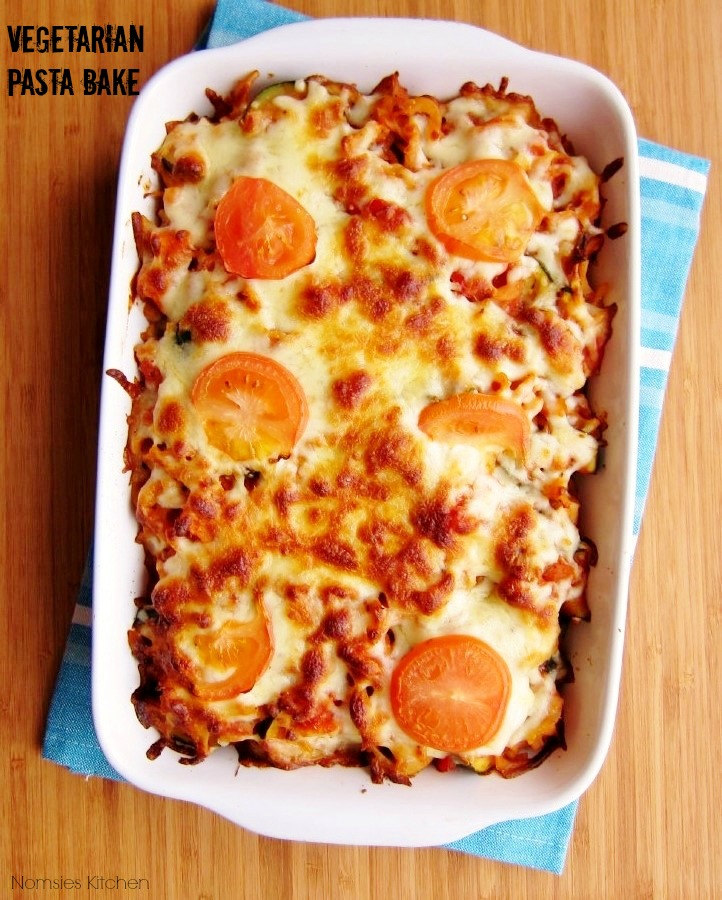 Vegetarian Pasta Bake Recipe from Nomsies Kitchen