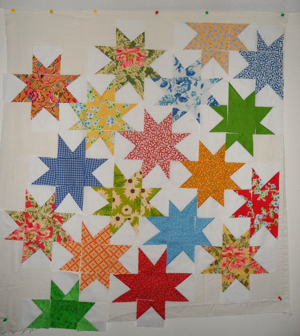 Blueberry Patch: Wonky Scrappy Star Quilt Tutorial