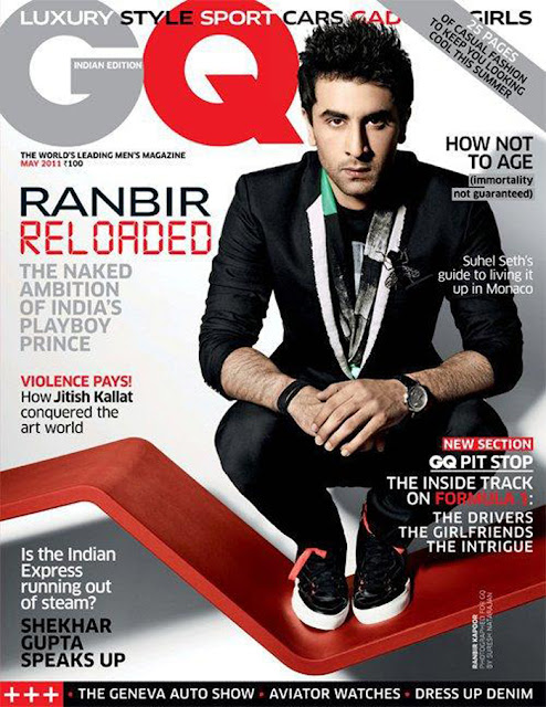 Ranbir Kapoor on GQ magazine cover -  May 11, 2011