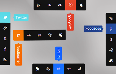 Vertical Social Media Sidebar Widget