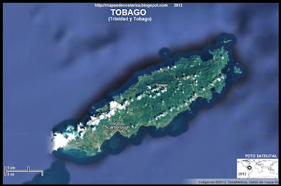 Mapa de TOBAGO (TRINIDAD Y TOBAGO) (satelite)