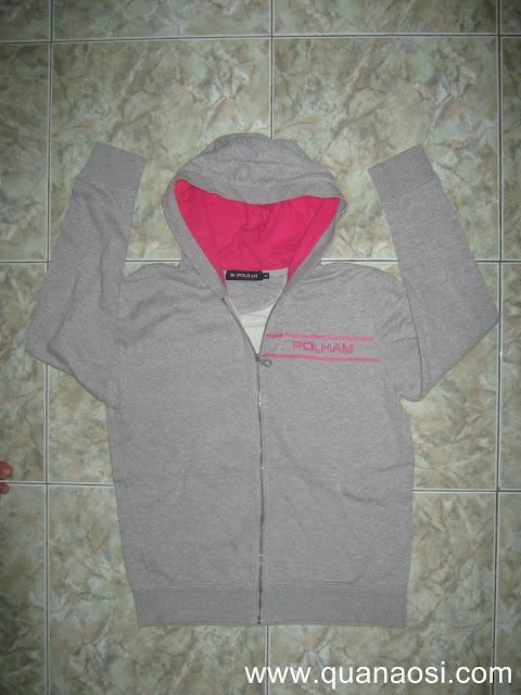 Áo khoác thun dài tay hàng SIDA màu xám 70k