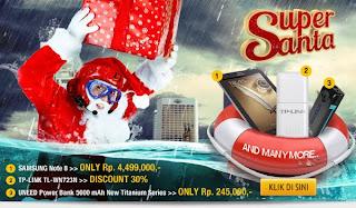 Promo Super Santa - Samsung Note 8 Hanya Rp 4.499.000