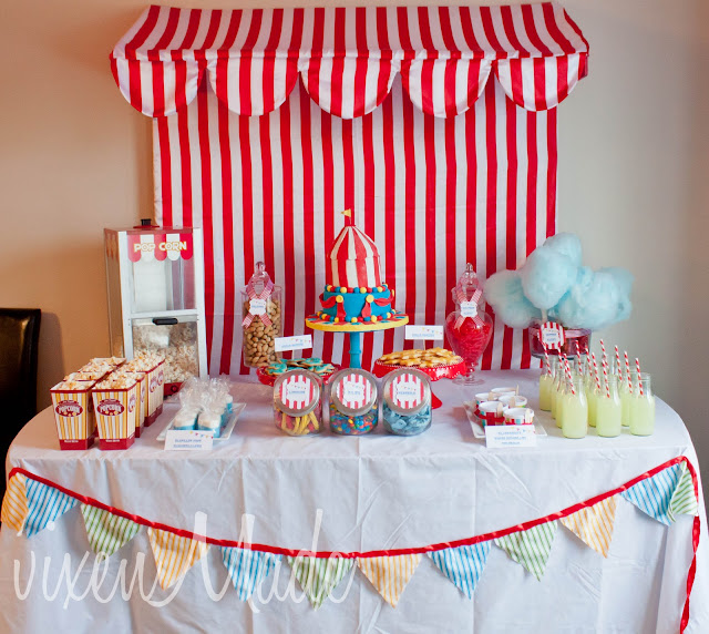 Vixenmade the circus party - Decoration pour bapteme ...