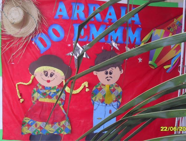 Mural Festas Juninas e Pirulito com Chapéu de Palha