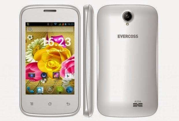 Spesifikasi Evercoss A33A, HP Murah Harga 400 Ribu OS Android KitKat
