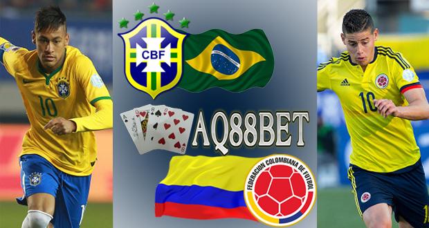 Agen Bola AQ88bet - Neymar dan James Rodriguez kembali saling berhadapan, Rabu (17/6/2015) waktu setempat. Tidak bersama Barcelona dan Real Madrid. Keduanya mengusung bendera tim nasionalnya masing-masing di ajang Copa America 2015 yakni Brasil VS Kolombia.