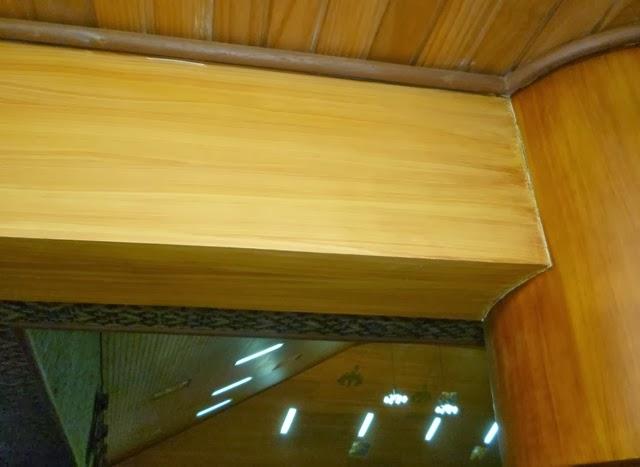wood grain mural