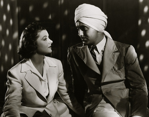 Myrna Loy and Tyrone Power