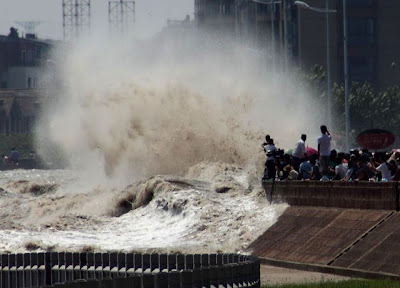 World's Highest Tidal Waves in Qiantang River