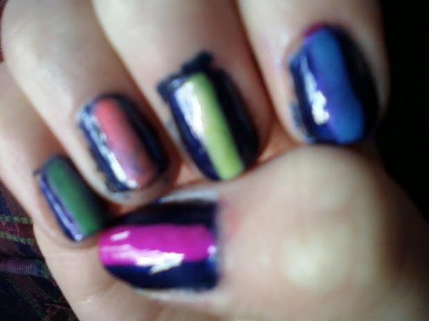 abby's nail design navy blue