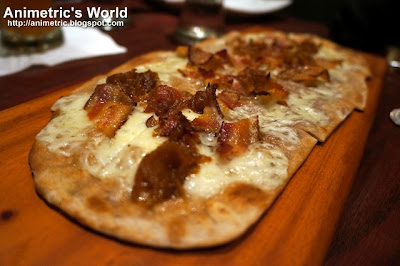 Gruyere & Applewood-Smoked Bacon Flatbread at Village Tavern