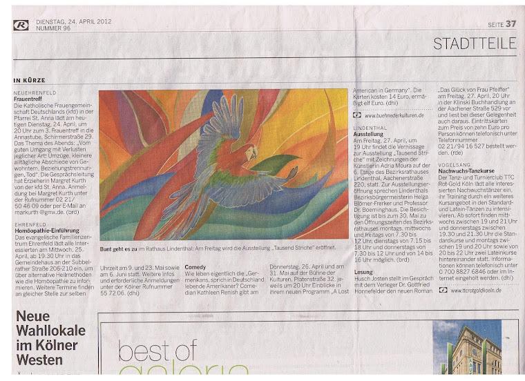 Kölnische Rundschau - Jornal Rundschau de Colônia - 24 - 04 - 2012