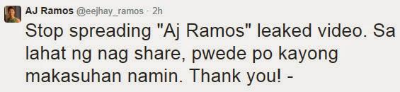 AJ Ramos tweet
