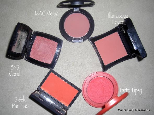 Top 5 Tuesday - peach blushes