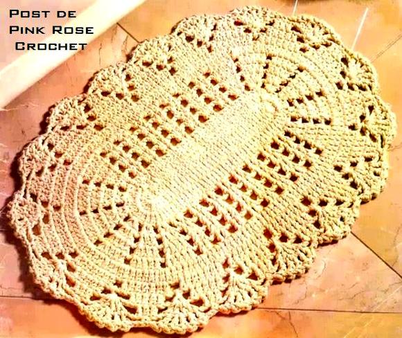 Www Croche : PINK ROSE CROCHET: Tapete Oval com Barbante