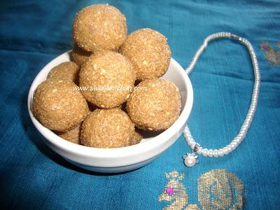 images for Sesame Ladoo Recipe / Nuvvula Unda / Til Ka Ladoo Recipe / Til Ke Laddoo