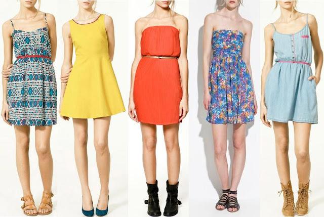 5 vestidos sencillos y a la moda de zara