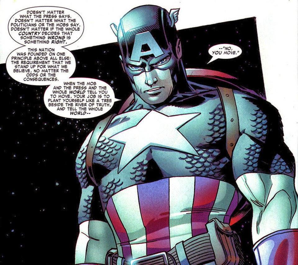Captain America quotes Mark Twain - Viral Comics