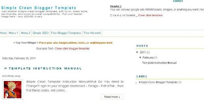 simple clean blogger template