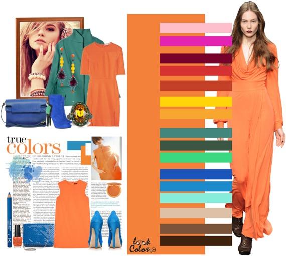 оттенок оранжевого цветотипа лето