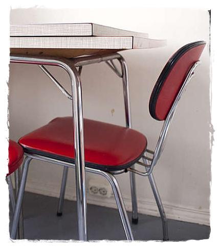 Gamle kjøkkenstoler