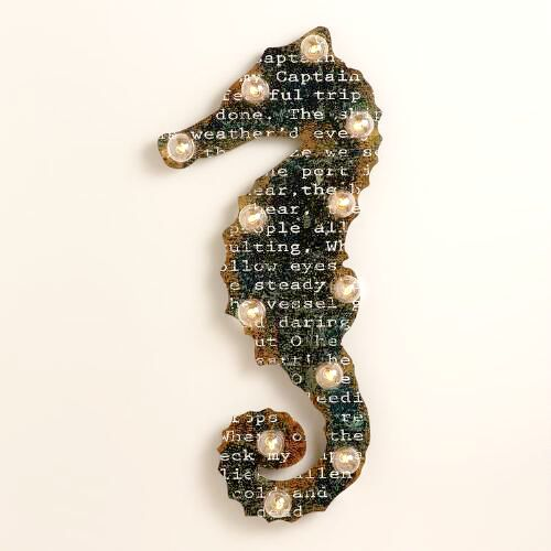 Seahorse Word Marquee Wall Sign