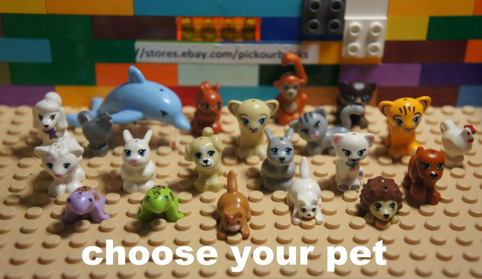 LEGO Friends PET ANIMALS Figure   Choose Dog Dolphin Cat Sheep Turtle  Rabbit Etc ~ Stores.ebay.com/pickourbricks