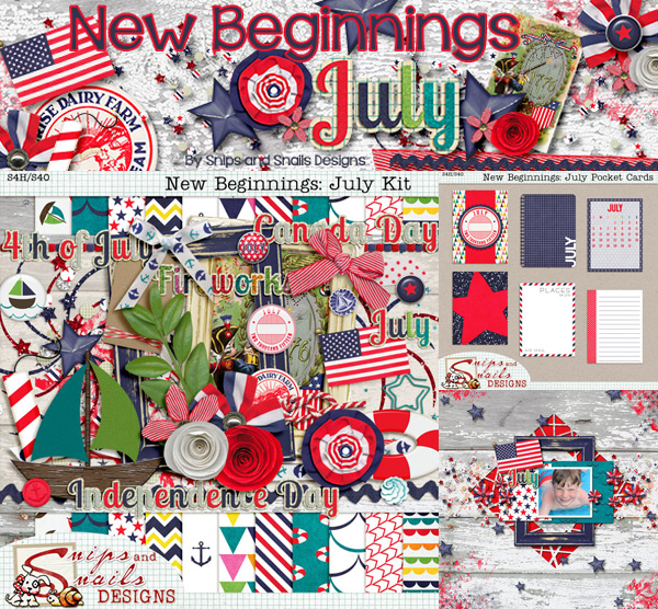 July Digital Scrapbook Kit