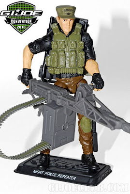 GI Joe 2013 Convention Exclusive Night Force Boxed Set - Repeater figure