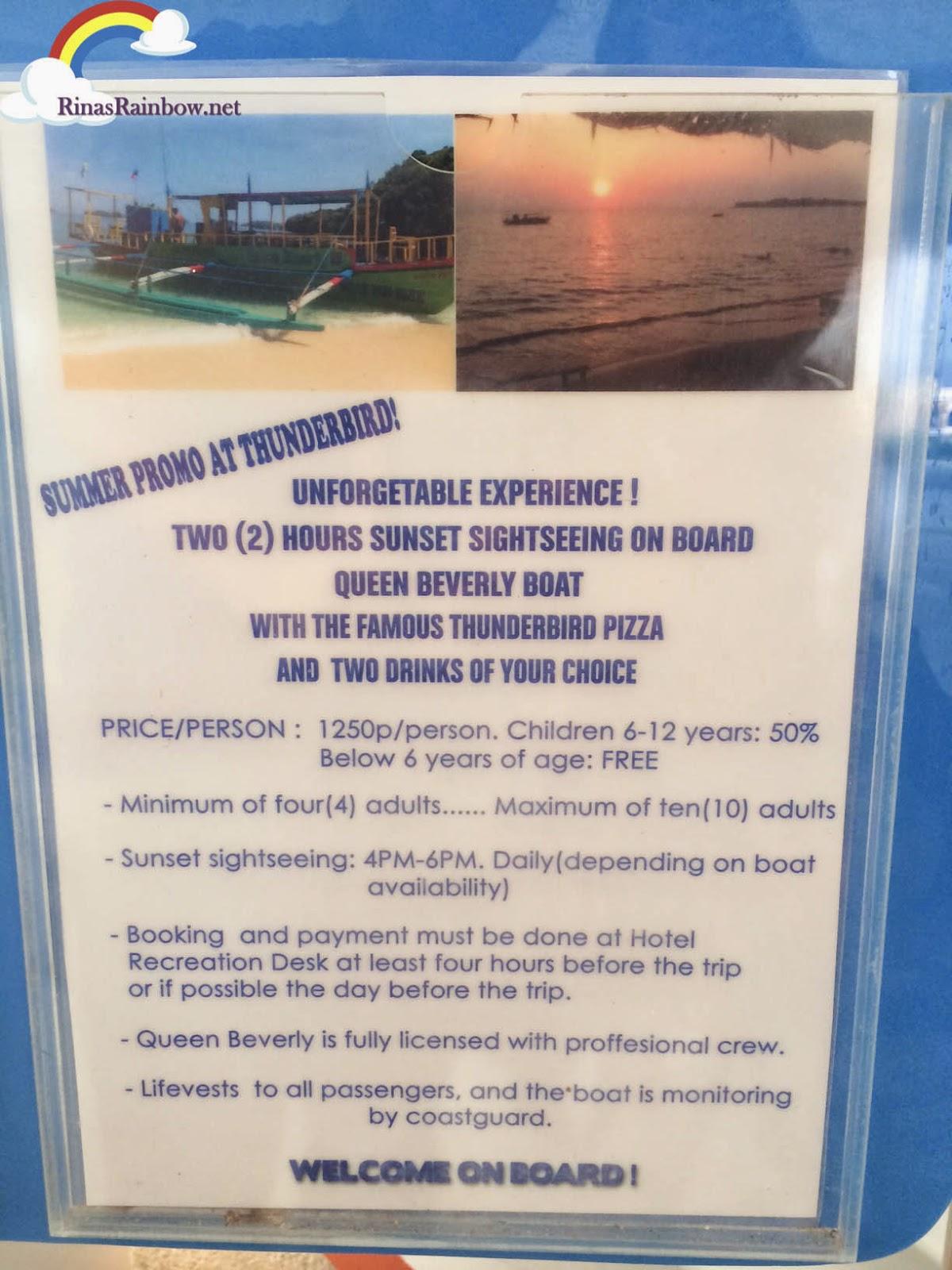thunderbird island hopping promo rates