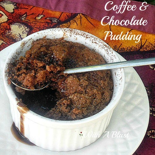 ... puddings and this coffee and chocolate pudding is tops the coffee