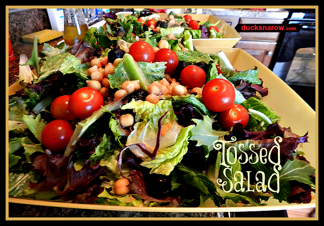 tossed salad, field greens, Italian salad  www.ducksnarow.com
