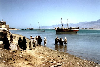 The marine front of Ras Al Khaimah (1960) old and rare photo