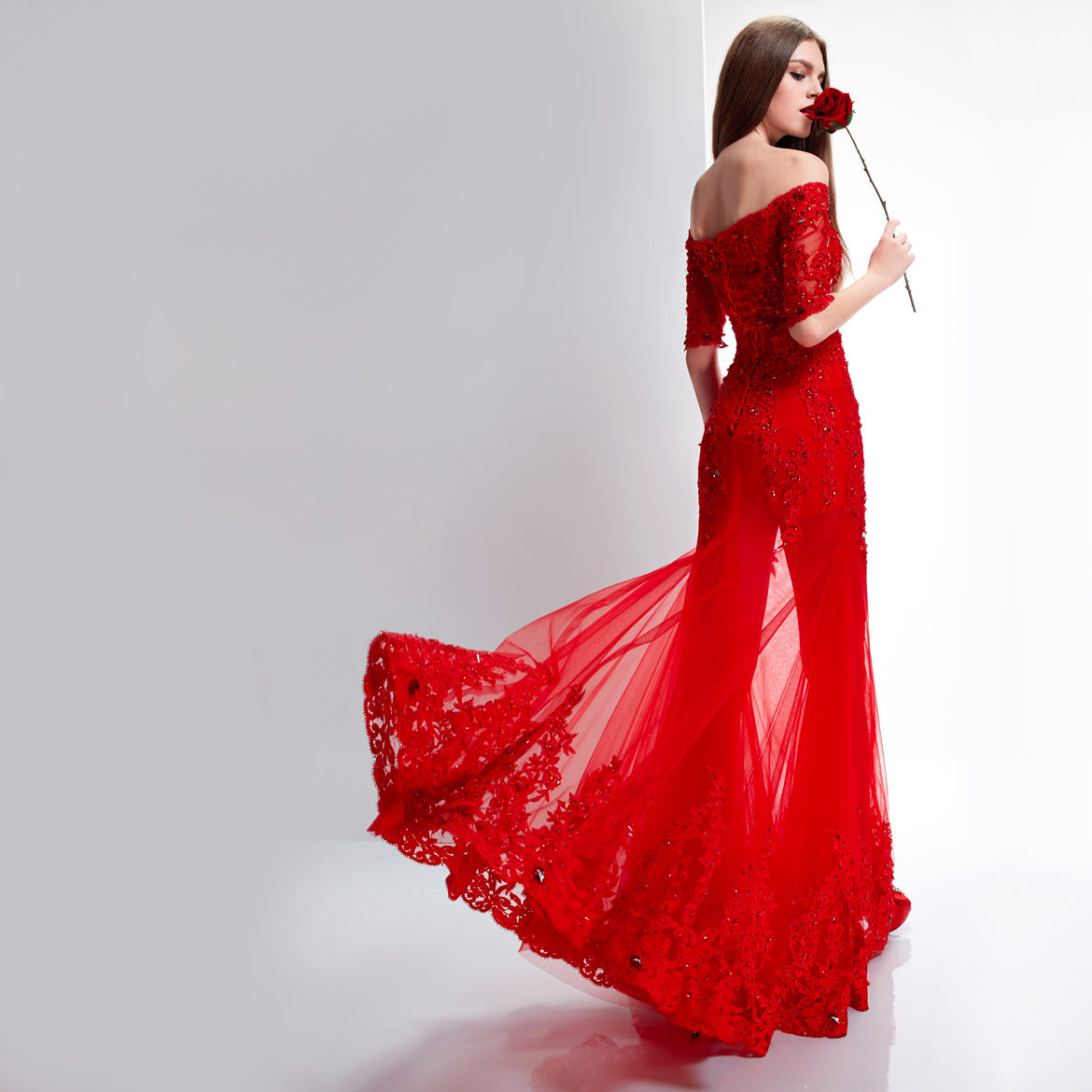 Wedding dresses red women 39 s fashion for Wedding dresses with red in them