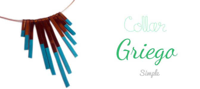Collar estilo griego con alambre plano