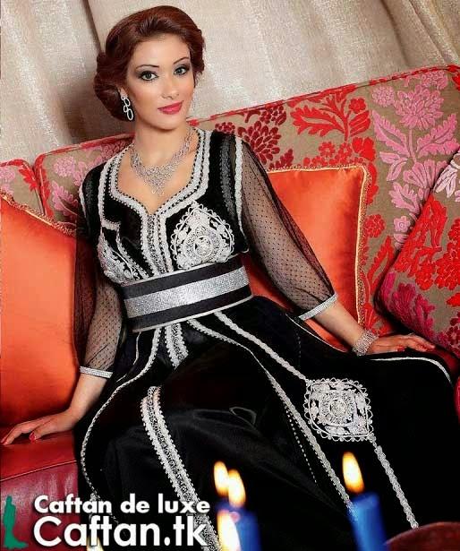 Caftan marocain demi manches 2014