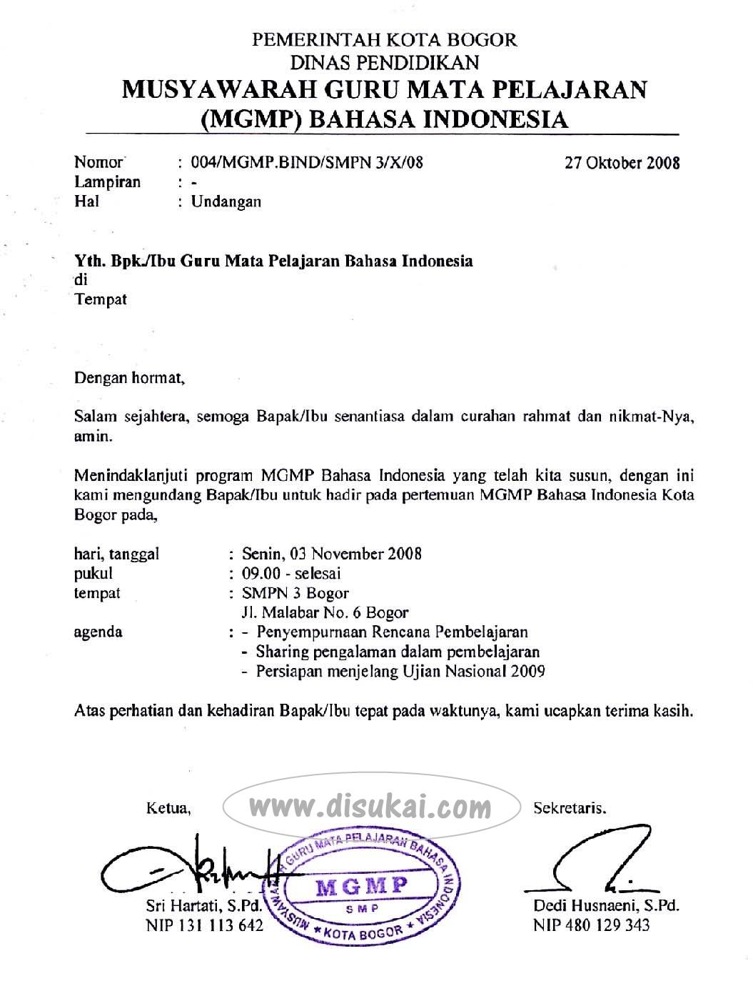 Contoh Surat Resmi Dalam Bahasa Inggris Formal Vrasmi