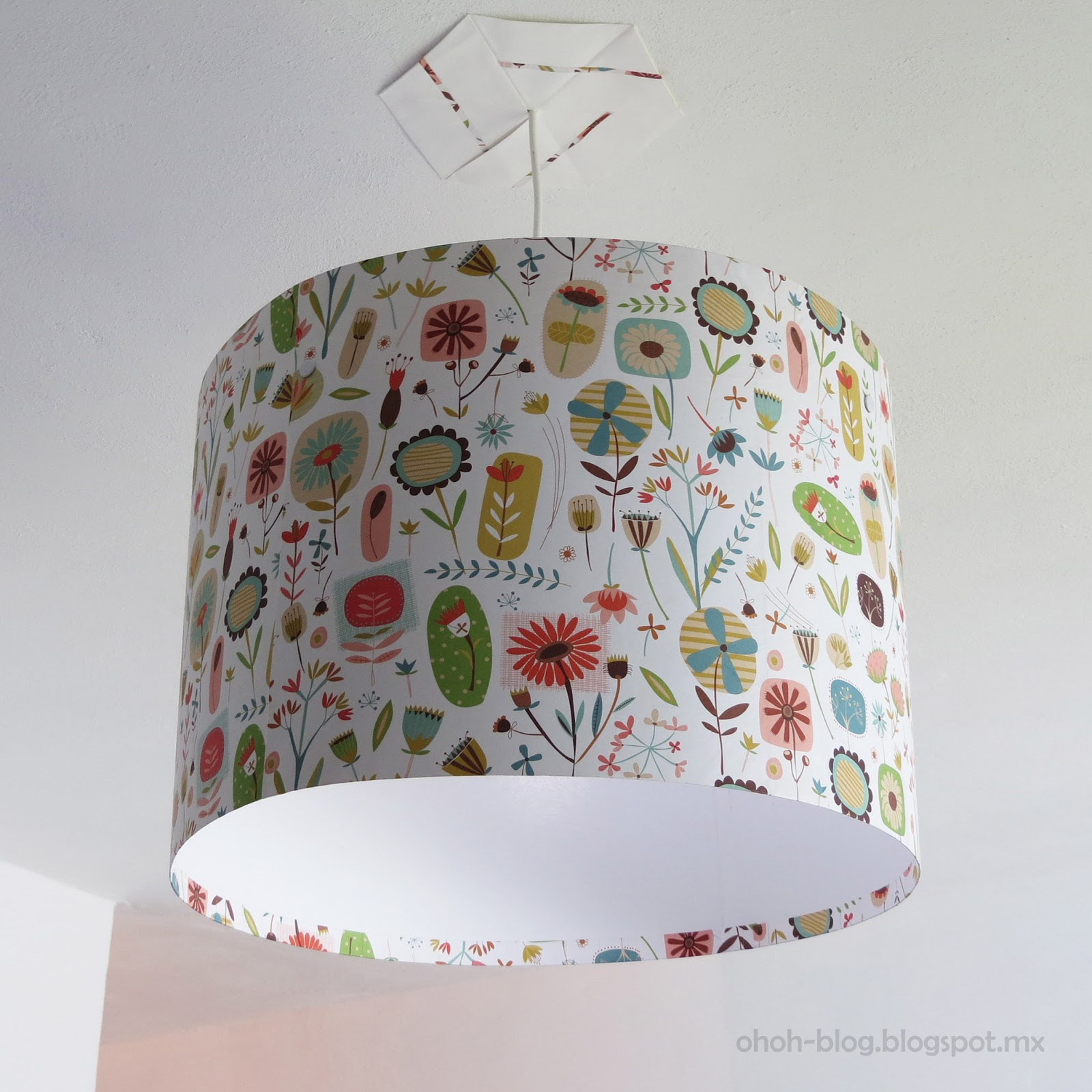 Diy lampshade pantalla ohoh blog diy and crafts - Diy lamp shade ...