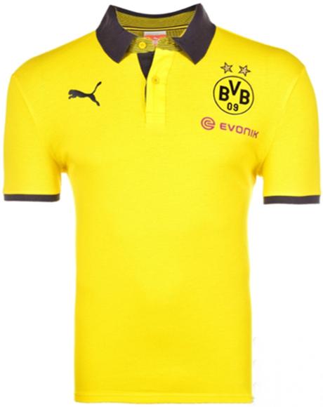 Polo Puma Borussia Dortmund T7 Amarelo