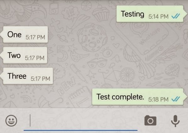 testing. one two three. test complete