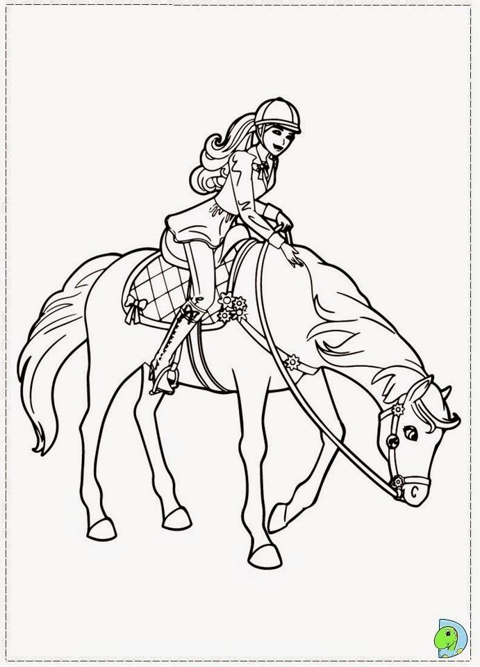 Dinokids desenhos para colorir desenhos da barbie e for Barbie a cavallo da colorare