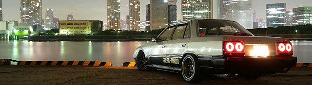 Nissan Skyline, R30, japoński sportowy samochód, lata 80, RWD, sedan