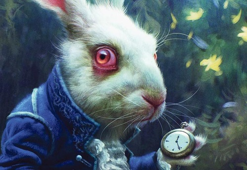 White Rabbit Alice Tim Burton The Tim Burton Film 'alice