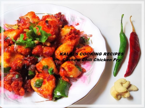 Cashews Chilli Chicken Fry | Munthiri Milagaai Kozhi Kari Varuval