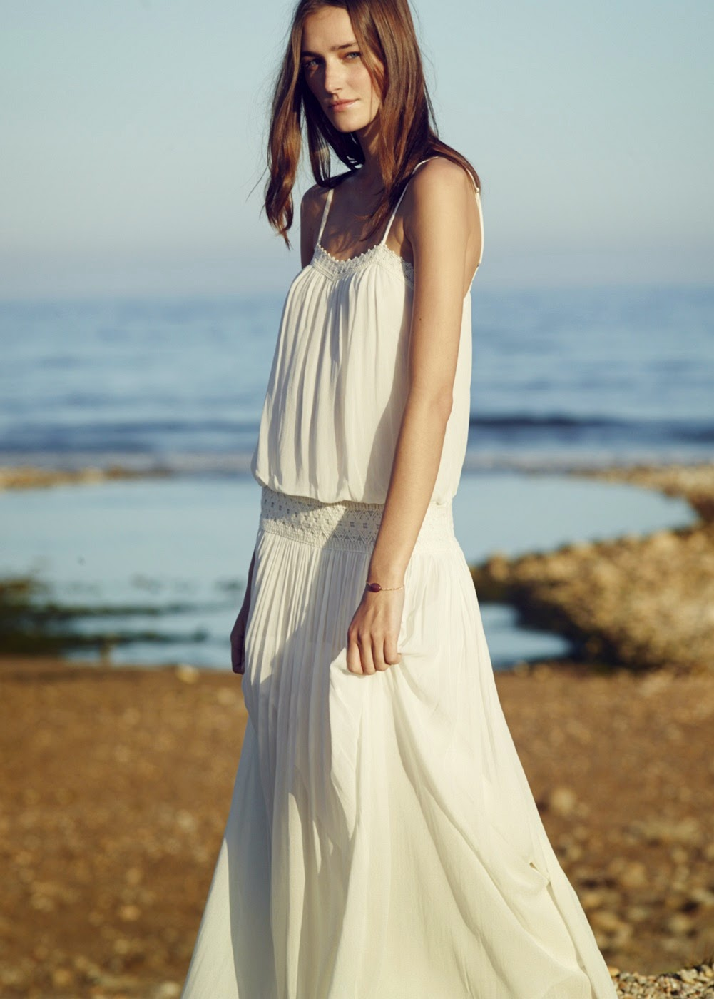 Mango maxi dress white