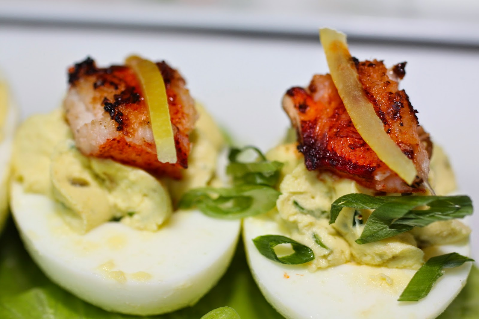 Deviled Eggs With Lemon Zest, Chives And Capers Recipes — Dishmaps