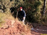 Inici del corriol que puja al Turó del Casuc. Autor: Carlos Albacete