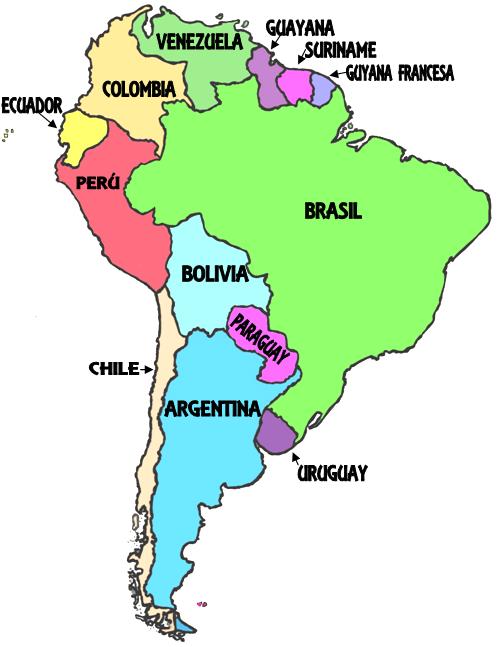 Mapa Mudo Capitales America