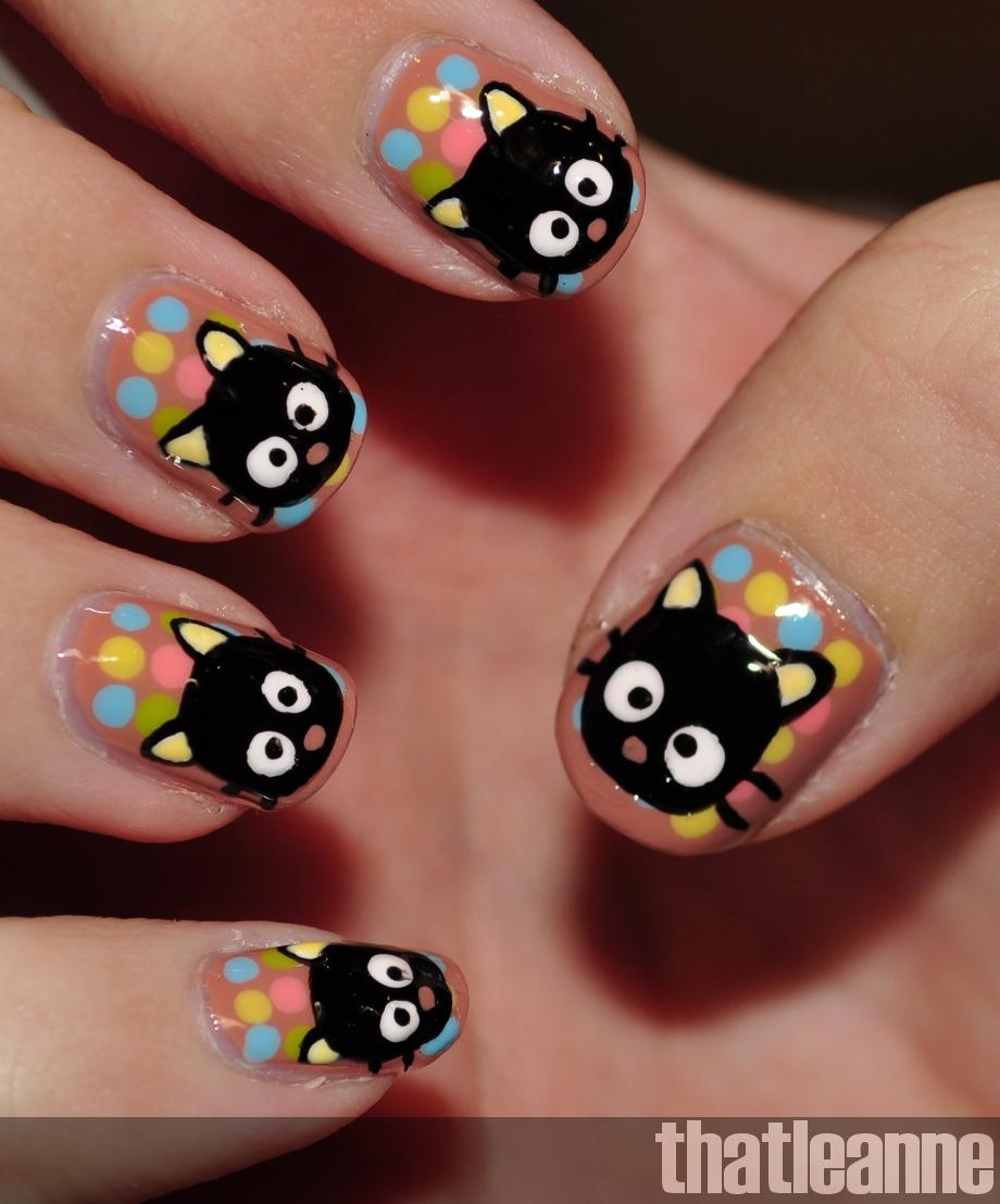 Character Design Nails : Nail art idea cute character